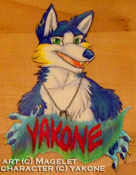 Yakone Conbadge by Magelet
