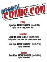 NYCC Schedule by RobertHack