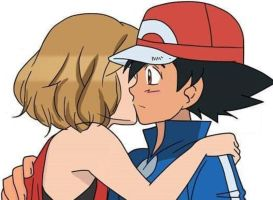 Serena kiss Ash for wishing him, Good Luck! by WillDynamo55