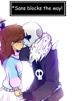 good girl Frisk x bad boy Sans by Angry-Dj
