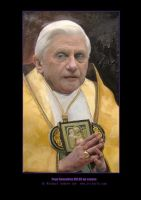 Pope Benedetto XVI GOLD by michaelandrewlaw