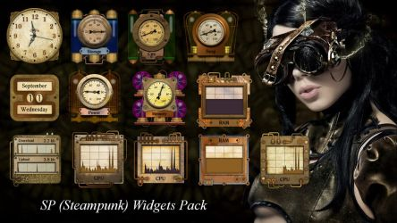 SP (steampunk) Widgets Pack for xwidget (FIXED) by Jimking