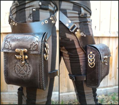 Steampunk Hip Holster Pouch by JAFantasyArt