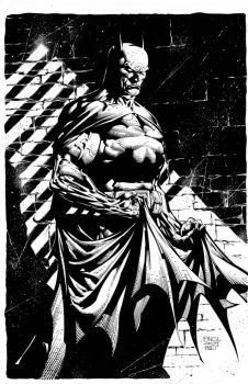 Batman Inks over DAVID FINCH by knockmesilly