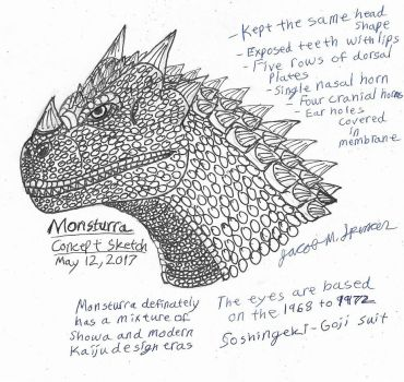 Monsturra Concept Sketch-May 12, 2017 by JacobSpencerKaiju79