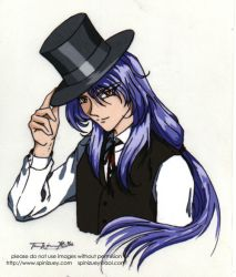 Shido with top hat -color by spinizuey
