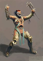 Character Design: Male Nomad/Barbarian by ndhill