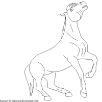 Horse Lineart. by Stroong