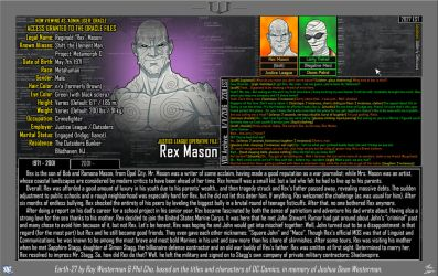 [Earth-27: Oracle Files] Rex Mason (Part 1/2) by Roysovitch