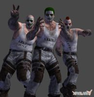 Batman : Arkham City Joker Thugs set 1 by XNALaraFanatic