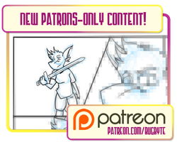 Patrons-Only Content! Page 28 sketch and inks by bugbyte