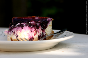 white chocolate blueberry cheescale by DCfotografie
