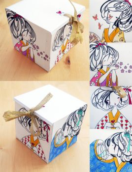 Paper Geisha Box by PalletsArt