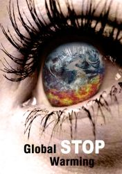 stop Global Warming poster photoshop by minaluiz