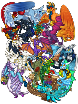 Skylanders: ''Dragons Unite!'' by spyroid101