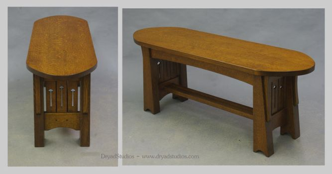 Classic Fumed Mackintosh coffee table by DryadStudios