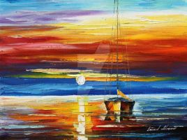 Fire In The Sky by Leonid Afremov by Leonidafremov