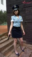 Jill Valentine RE3 Police Officer cosplay IX by Rejiclad