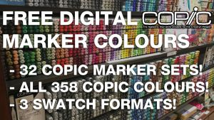 All 358 COPIC Digital Marker Colours.ASE/.ACO/.GPL by d-signer