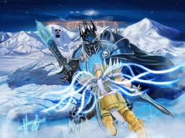 The storm approaches (Arthas vs. Tyrael) by henryjbarre