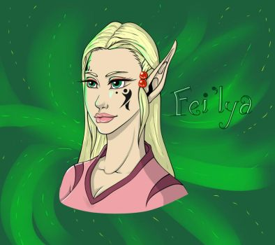 Fei'lya for MythicPanda by Lily-L-Bell