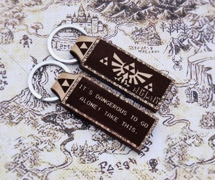 Personalized Legend of Zelda leather keychain by venmehiccustom