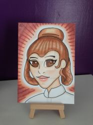 Princess Leia marker sketch card by kirstyhannam