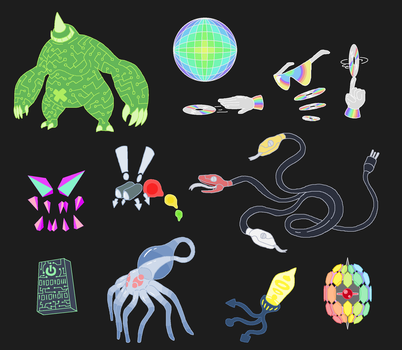 Creature doodles: cyberspace 2 by JWNutz