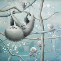 Sloth In The City by AnneAngelshaug