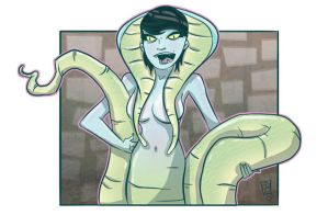 Serpent Girl by TheMyopicProphet
