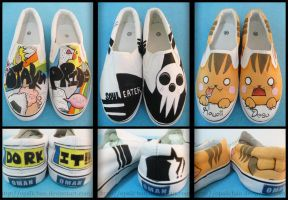 Anime shoes 5 by OpaliChan