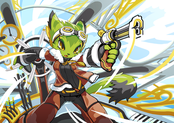 Freedom Planet 2 art experiment of Cory by TysonTan