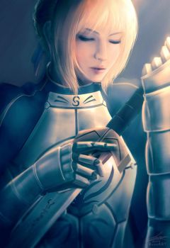Fate/Stay Night: Saber! by raikoart
