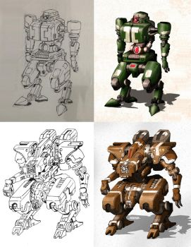 Concept Mech: Bruce and The Hammer by singleMedia
