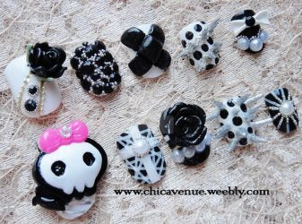 My EMO SPIKE 3D NAILS by jadelushdesigns