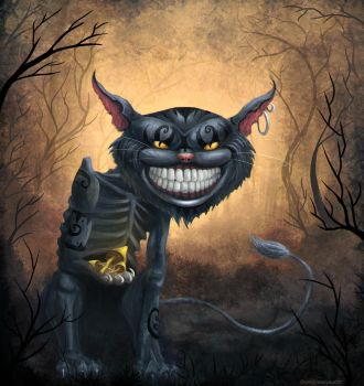 Cheshire Cat by yesiknowyoucan
