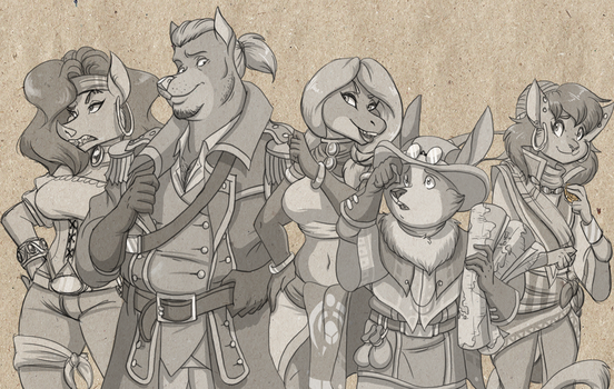The Pirate's Fate: Main Party by volkenfox