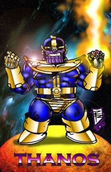 Thanos the mighty - chibi by BigRob1031