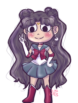Luna humanized as Sailor Moon by Hasunecchi