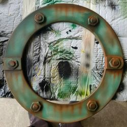 old porthole picture frame by savagewerx