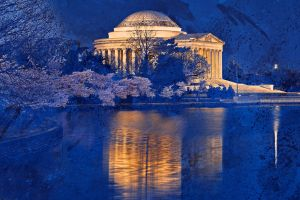 Acrylic Jefferson Memorial by somadjinn