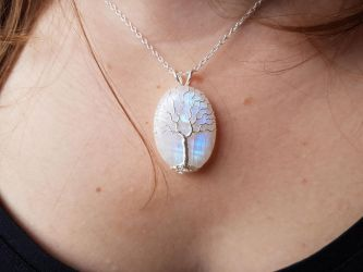 White Tree of Gondor necklace by jessy25522