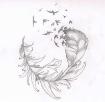 feather tattoo by SuigenerisSoul
