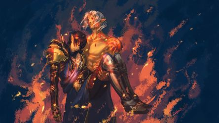 [Estinien Aymeric] Let's go back together... by Athena-Erocith