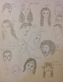 Faces of Frontmen and Frontwomen: Part 3 by PseudonoobDA