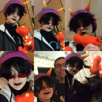 Fall!Terezi Cosplay Collage by greenzor13