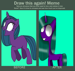 Draw This Again Meme by theshadowpony357