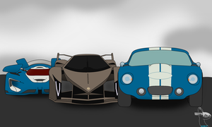 3 sportscars for TSLD by Electronicmaster