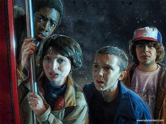 STRANGER THINGS - CAST PAINTINGS by kyle-lambert