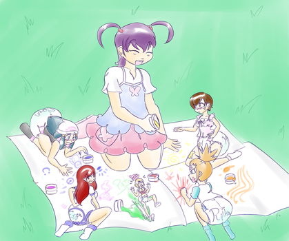 Color Circle-Crossover Creche Scene by RFSwitched